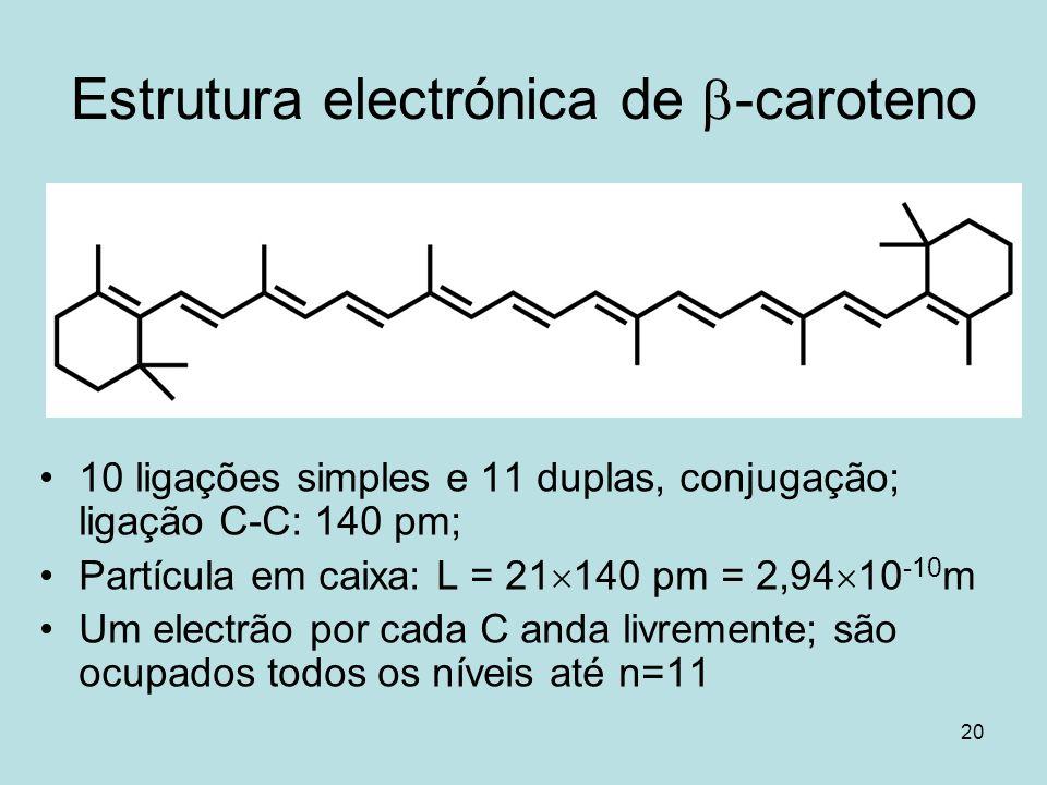 Estrutura electrónica de b-caroteno
