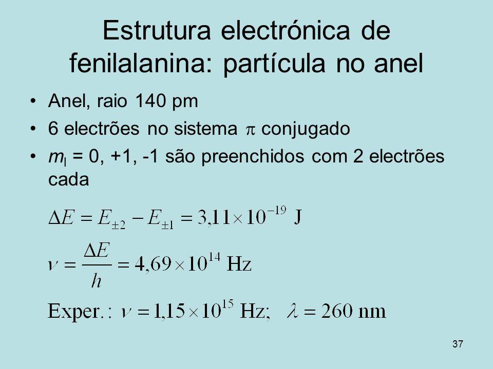 Estrutura electrónica de fenilalanina: partícula no anel