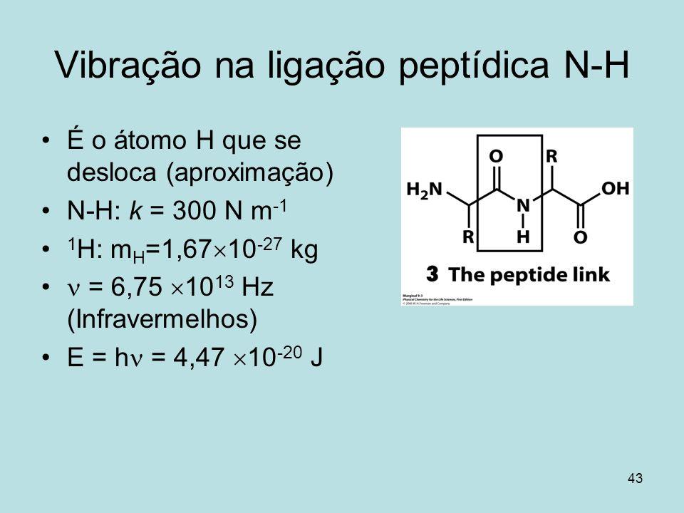 Vibração na ligação peptídica N-H