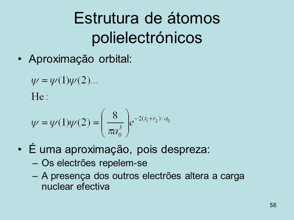 Estrutura de átomos polielectrónicos