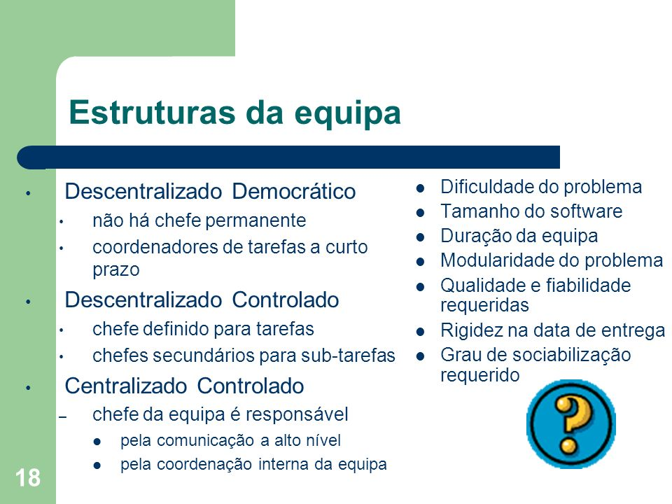 Estruturas da equipa Descentralizado Democrático