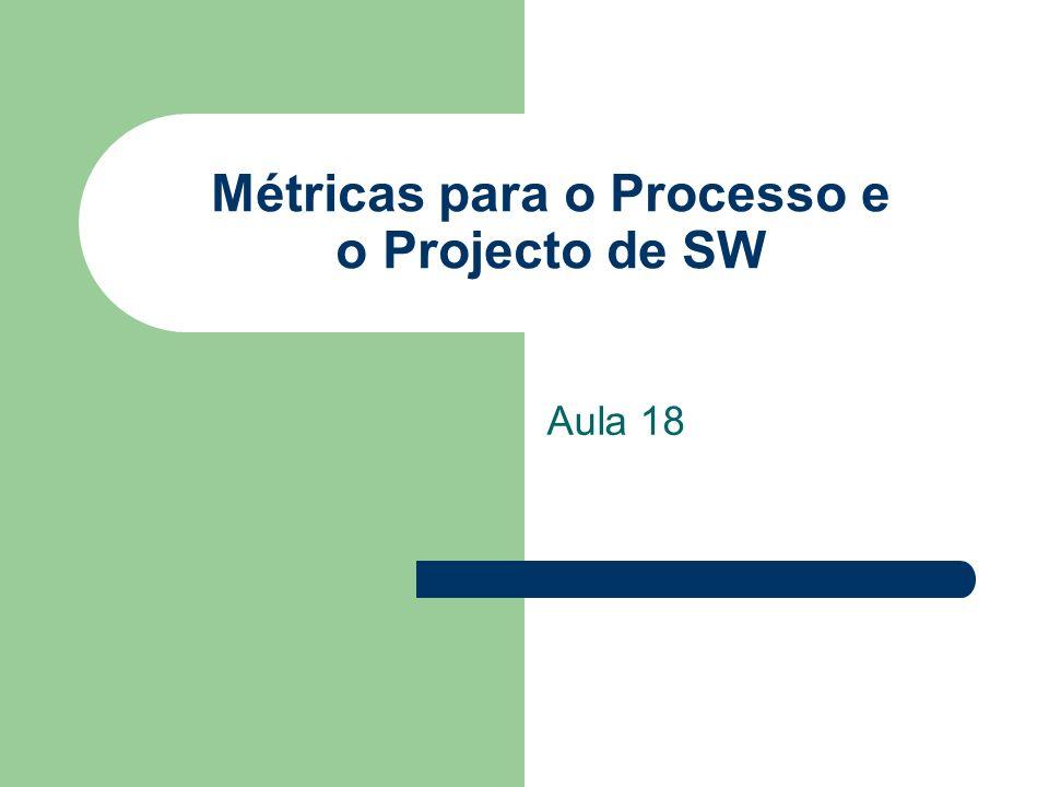 Métricas para o Processo e o Projecto de SW