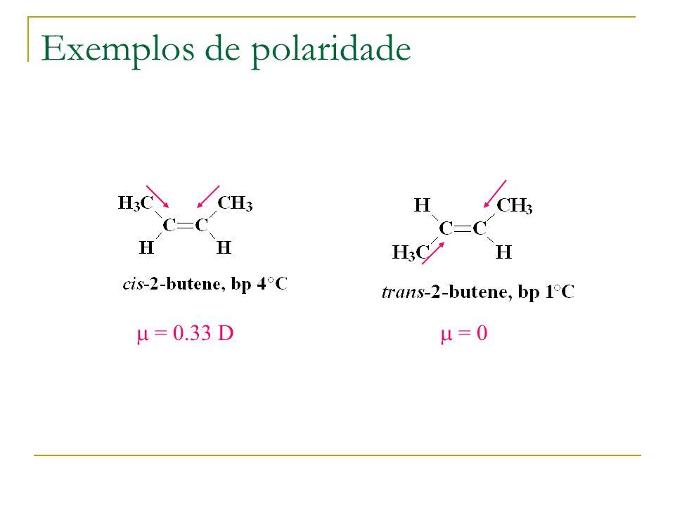 Exemplos de polaridade