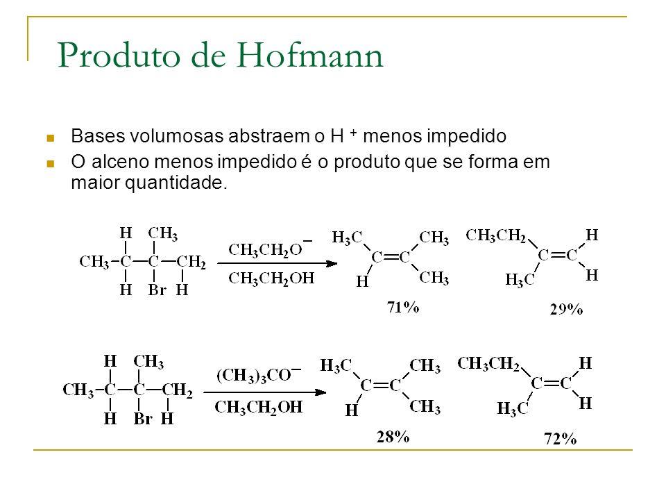 Produto de Hofmann Bases volumosas abstraem o H + menos impedido