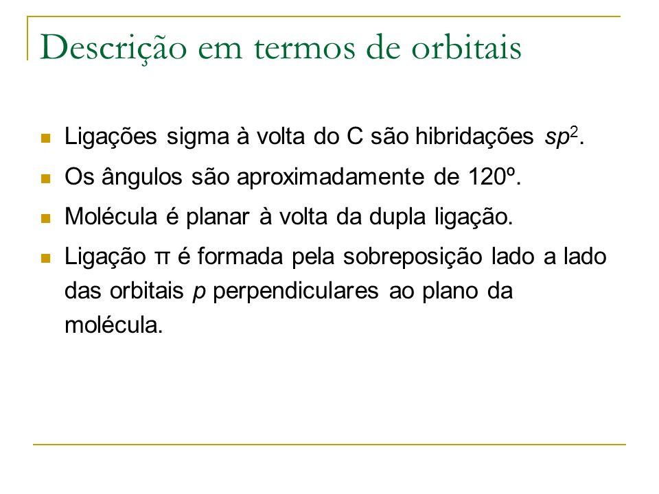Descrição em termos de orbitais