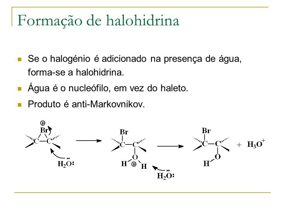 Formação de halohidrina