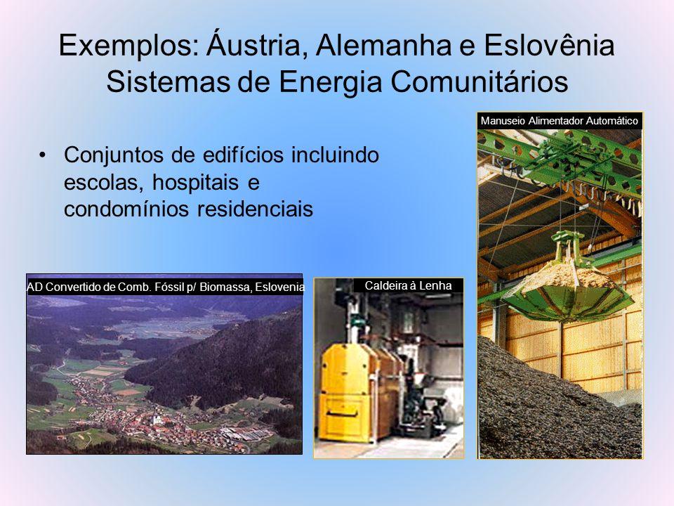 Exemplos: Áustria, Alemanha e Eslovênia Sistemas de Energia Comunitários