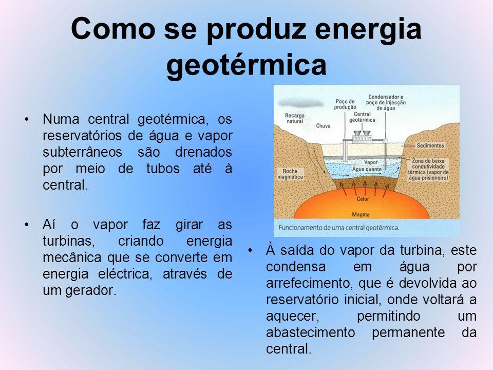 Como se produz energia geotérmica