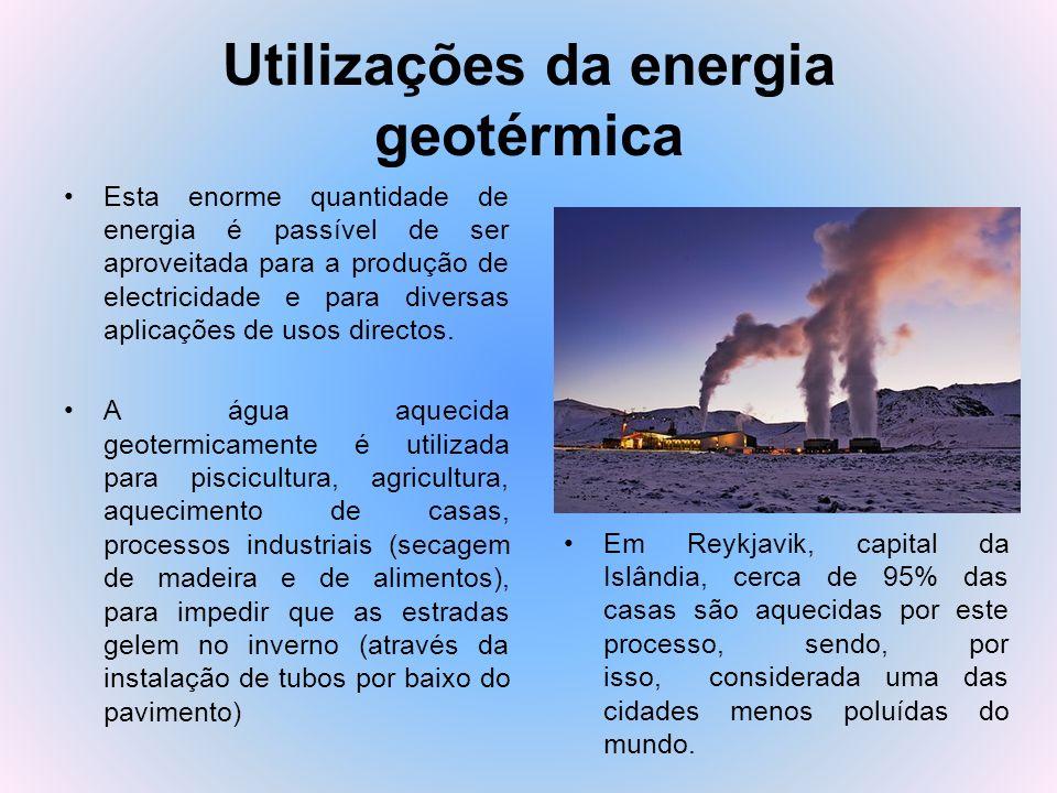 Utilizações da energia geotérmica