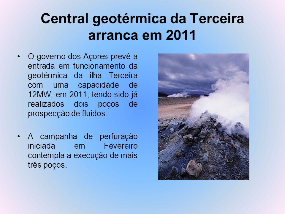 Central geotérmica da Terceira arranca em 2011