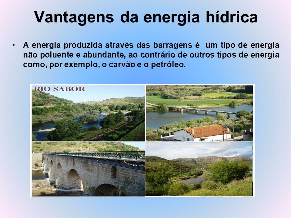 Vantagens da energia hídrica