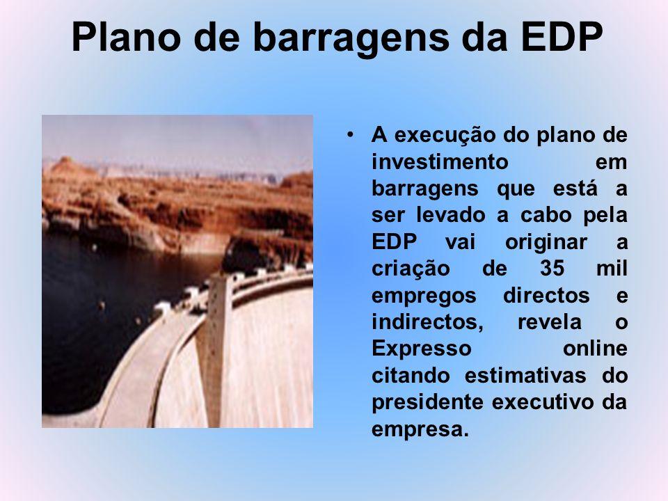 Plano de barragens da EDP