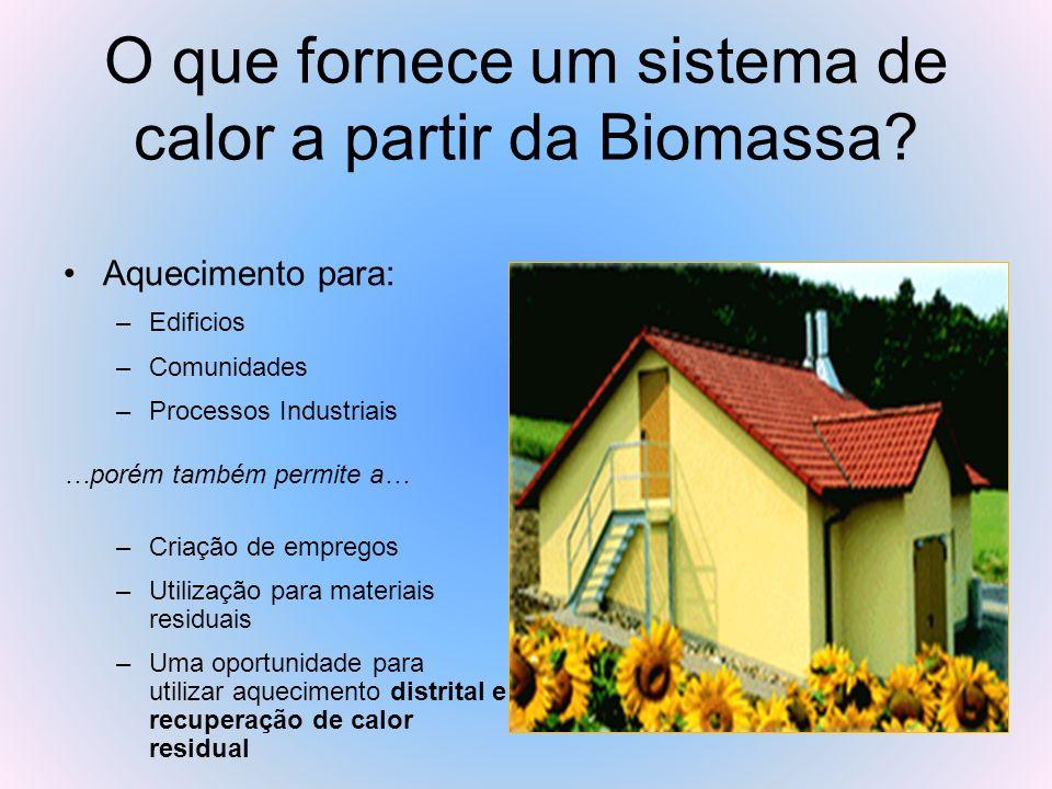 O que fornece um sistema de calor a partir da Biomassa
