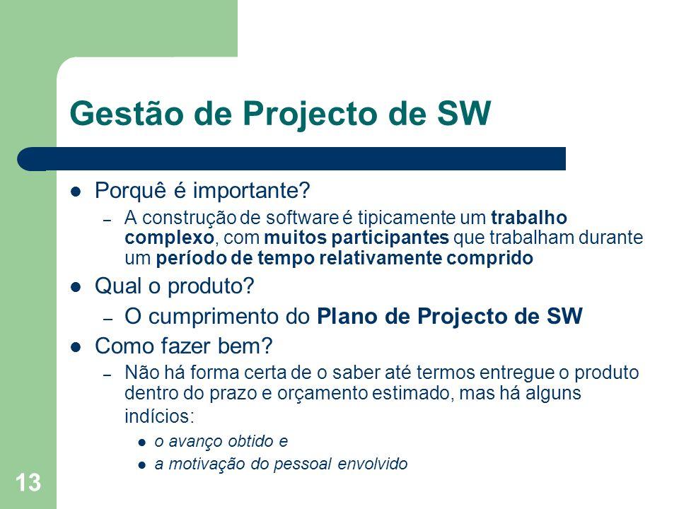 Gestão de Projecto de SW