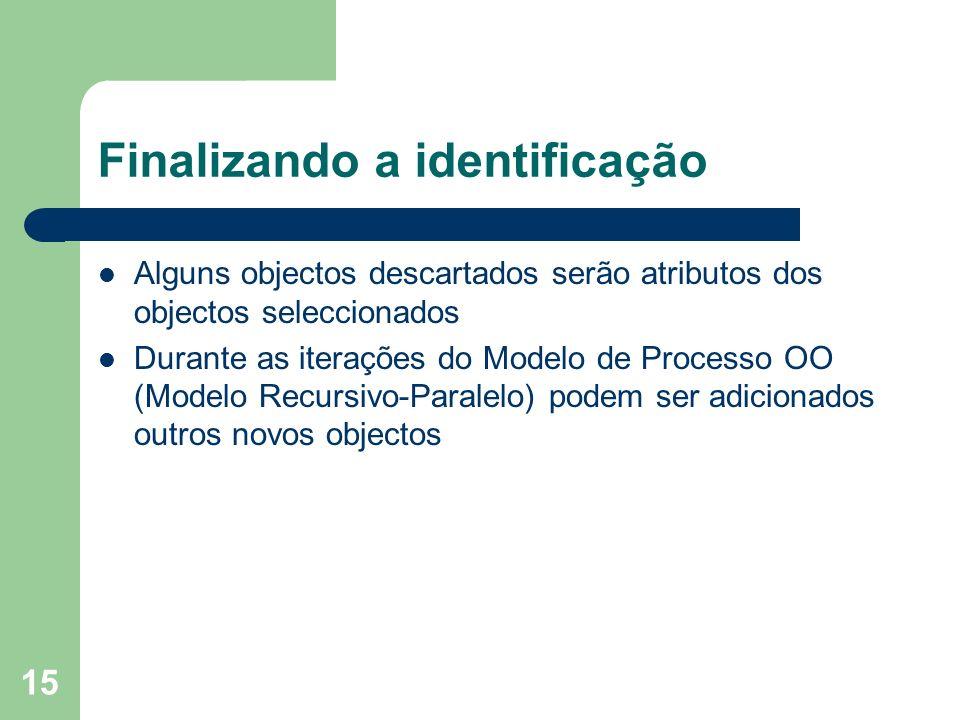 Finalizando a identificação