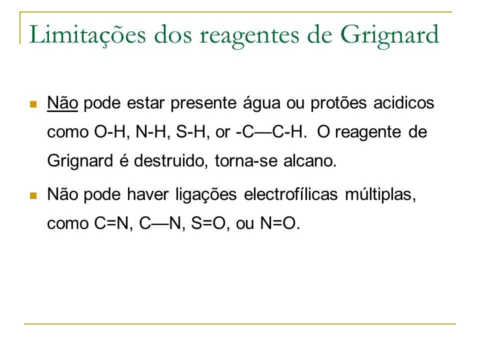 Limitações dos reagentes de Grignard