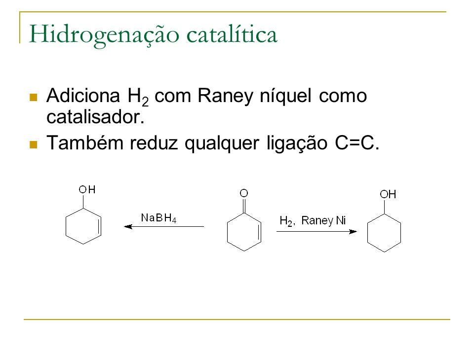Hidrogenação catalítica