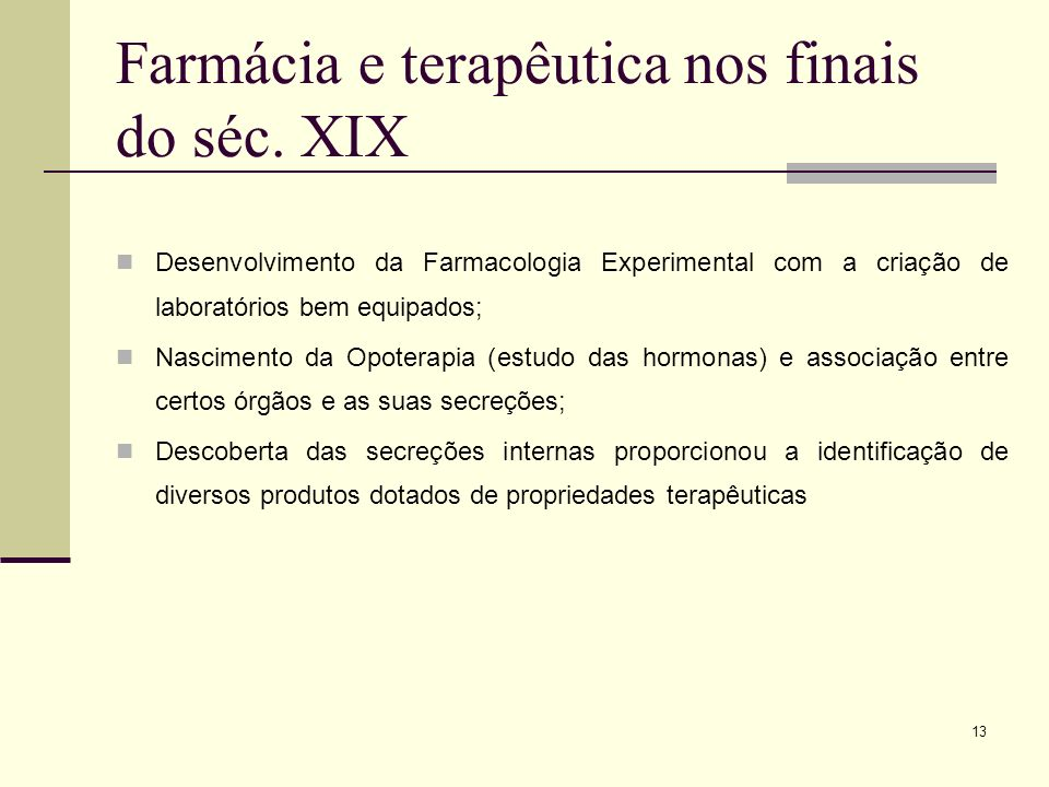 Farmácia e terapêutica nos finais do séc. XIX