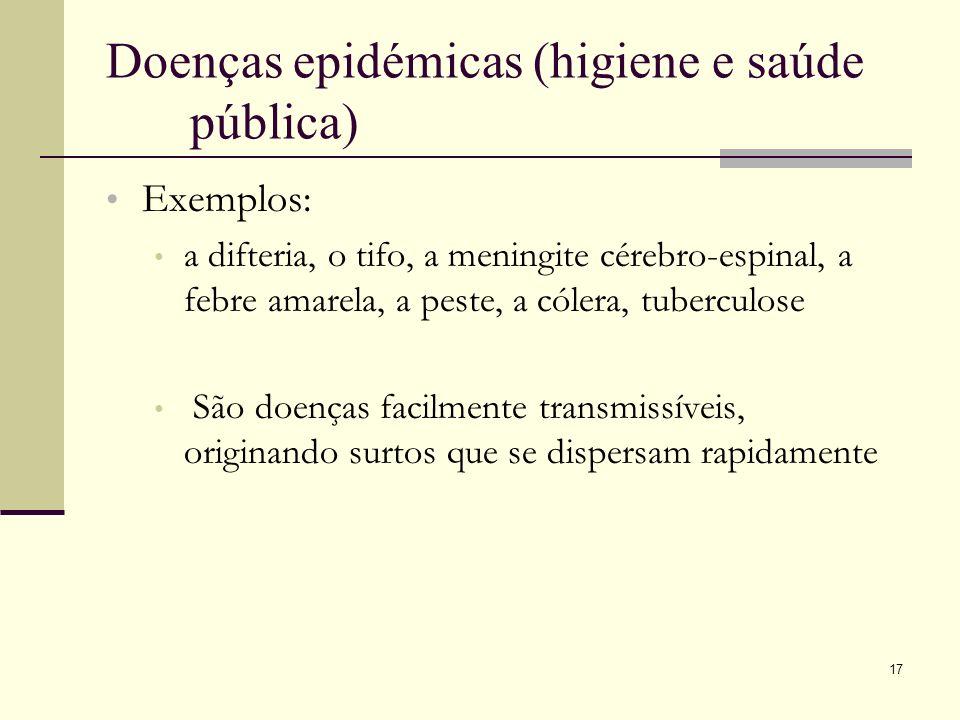 Doenças epidémicas (higiene e saúde pública)