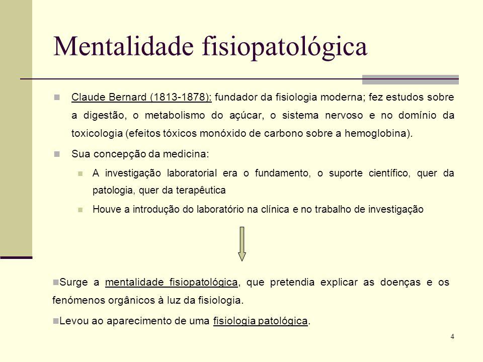 Mentalidade fisiopatológica