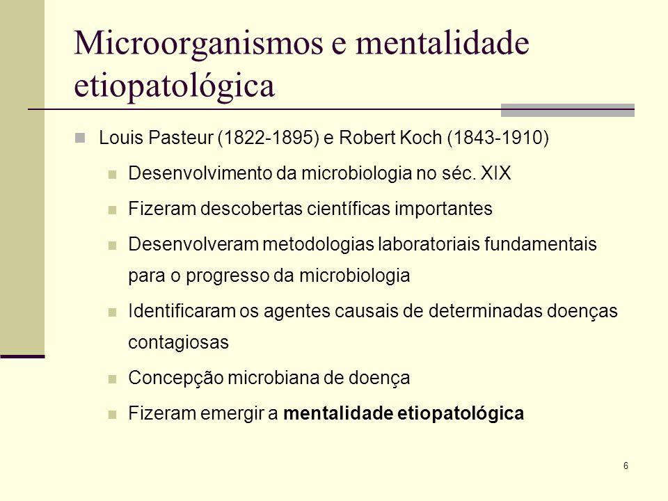 Microorganismos e mentalidade etiopatológica