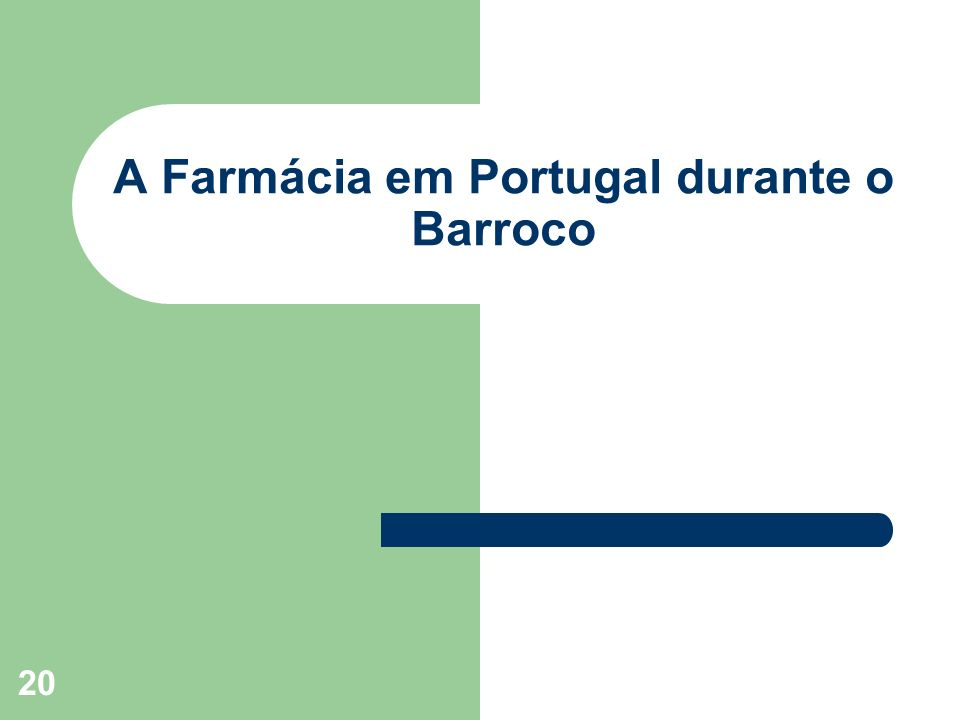 A Farmácia em Portugal durante o Barroco