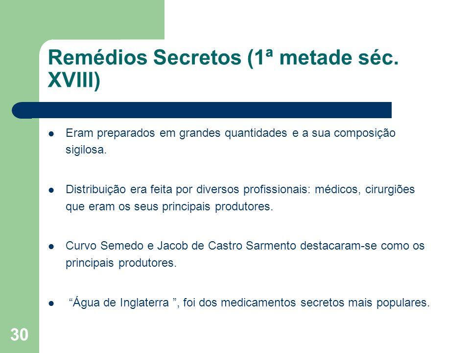 Remédios Secretos (1ª metade séc. XVIII)