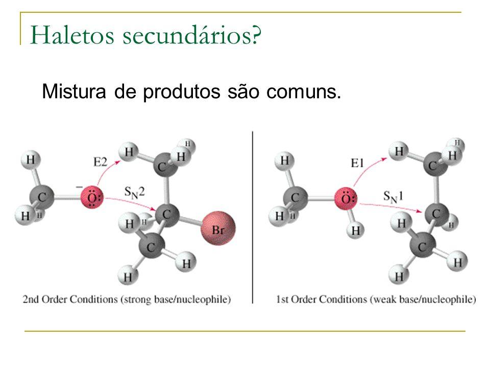 Haletos secundários Mistura de produtos são comuns.