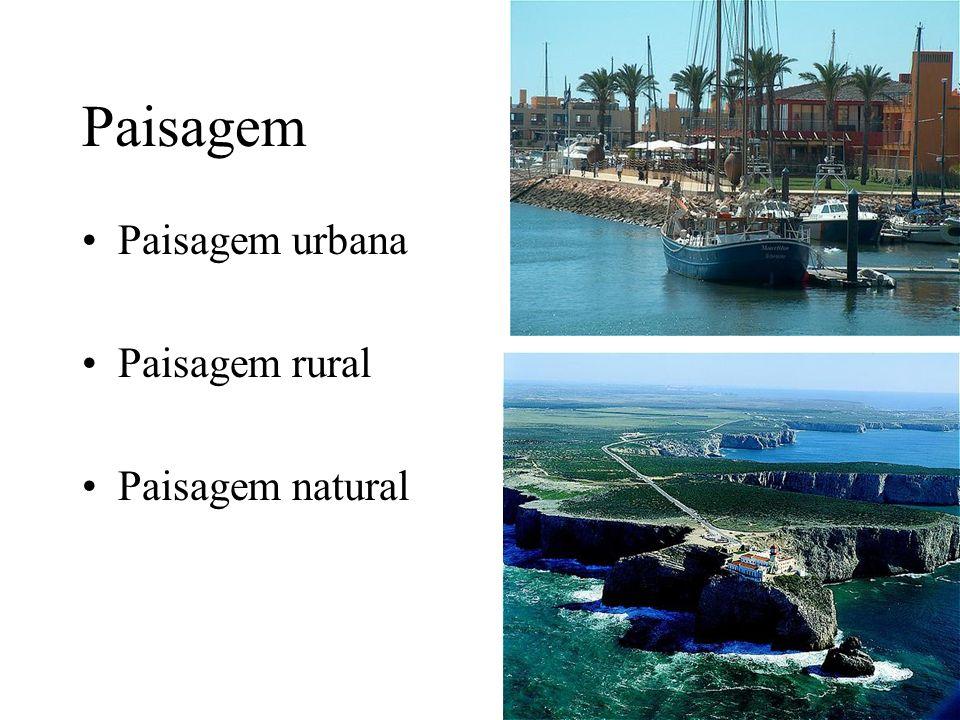 Paisagem Paisagem urbana Paisagem rural Paisagem natural