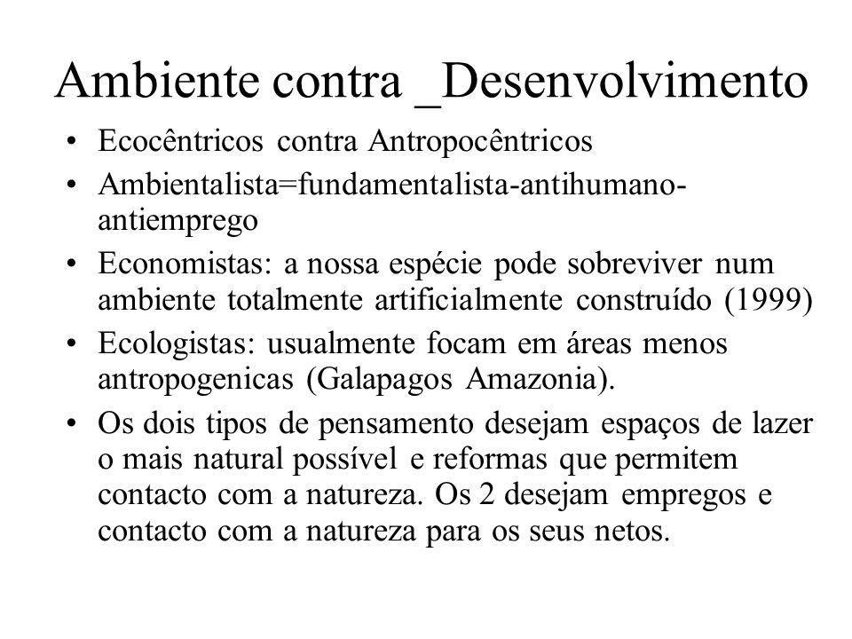 Ambiente contra _Desenvolvimento