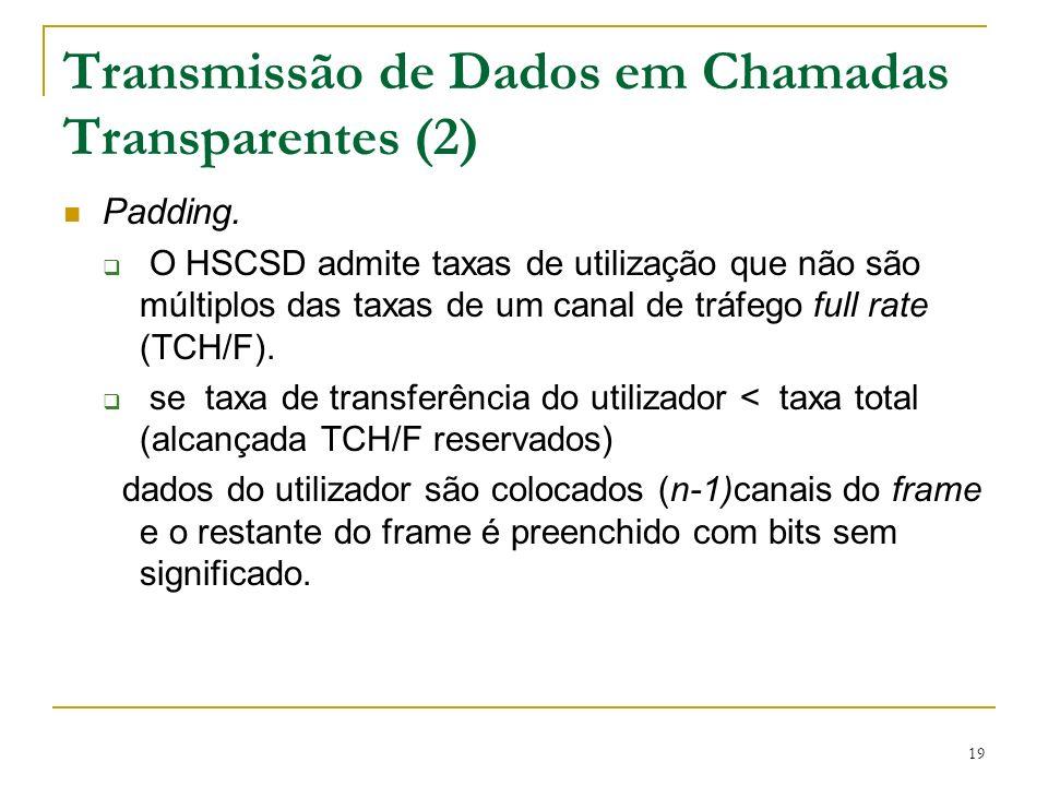 Transmissão de Dados em Chamadas Transparentes (2)