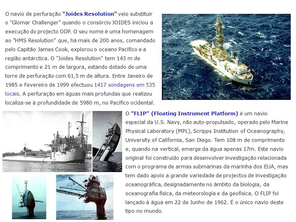 O navio de perfuração Joides Resolution veio substituir o Glomar Challenger quando o consórcio JOIDES iniciou a execução do projecto ODP. O seu nome é uma homenagem ao HMS Resolution que, há mais de 200 anos, comandado pelo Capitão James Cook, explorou o oceano Pacífico e a região antárctica. O Joides Resolution tem 143 m de comprimento e 21 m de largura, estando dotado de uma torre de perfuração com 61,5 m de altura. Entre Janeiro de 1985 e Fevereiro de 1999 efectuou 1417 sondagens em 535 locais. A perfuração em águas mais profundas que realizou localiza-se à profundidade de 5980 m, no Pacífico ocidental.