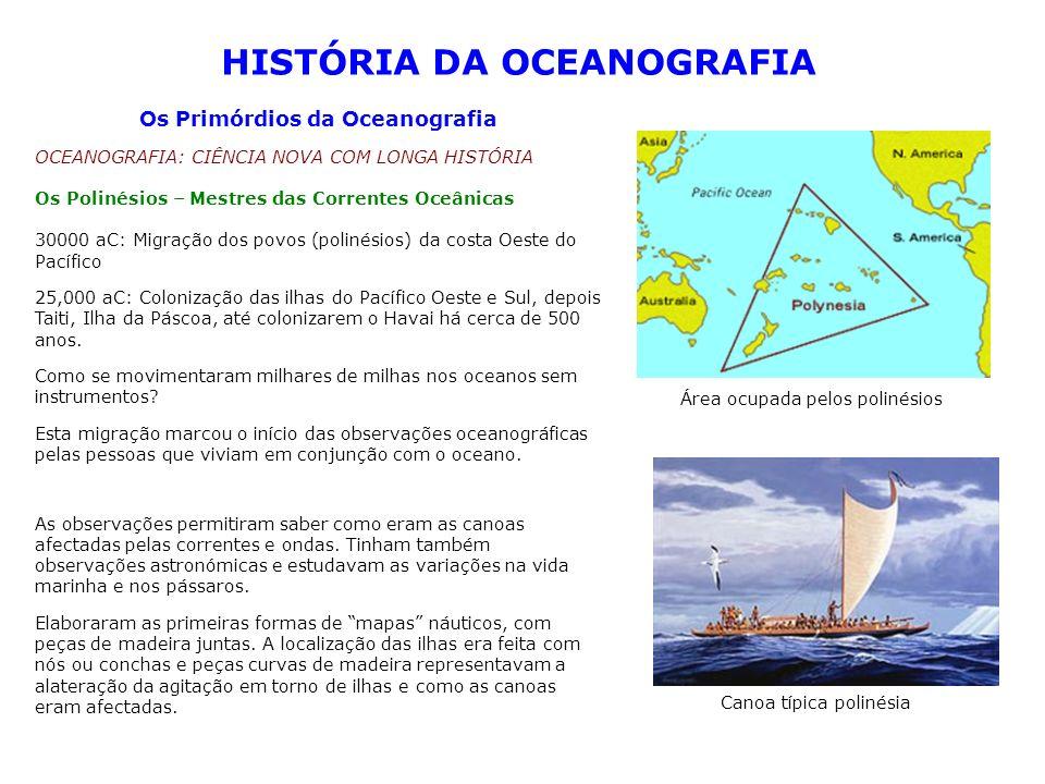 HISTÓRIA DA OCEANOGRAFIA Os Primórdios da Oceanografia