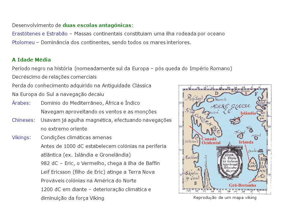 Reprodução de um mapa viking