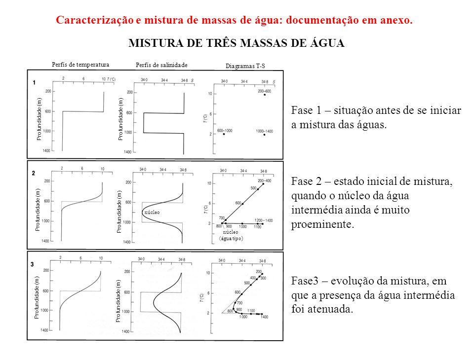 Caracterização e mistura de massas de água: documentação em anexo.
