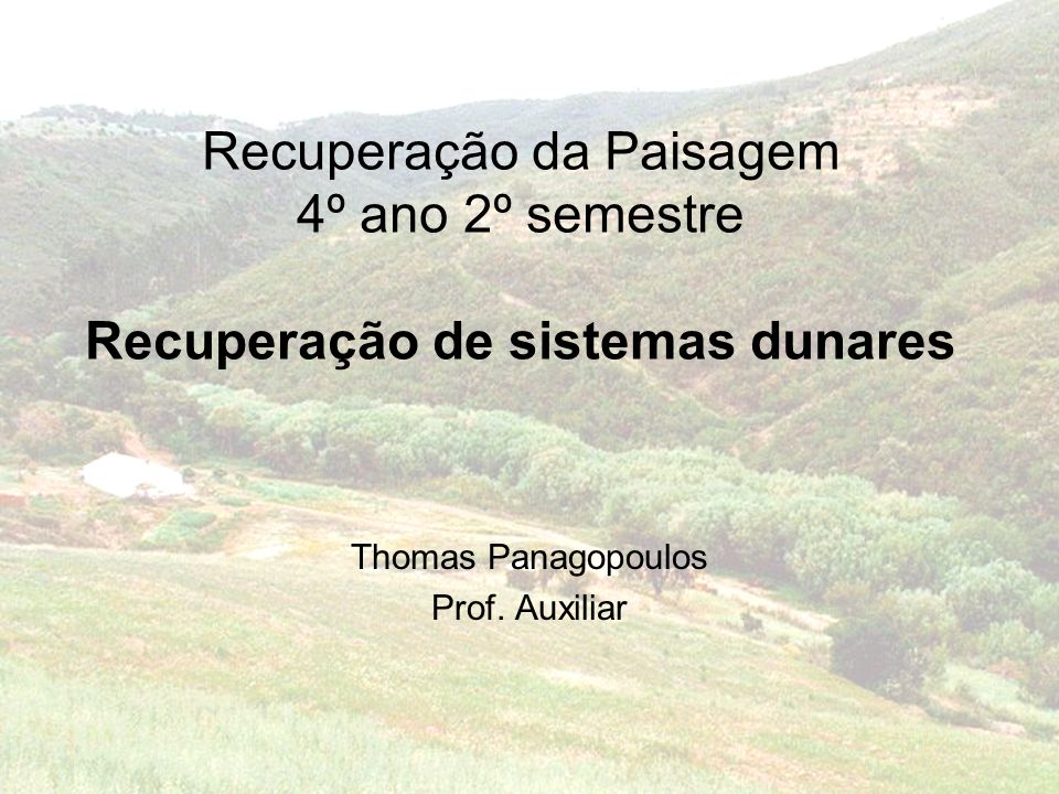 Thomas Panagopoulos Prof. Auxiliar