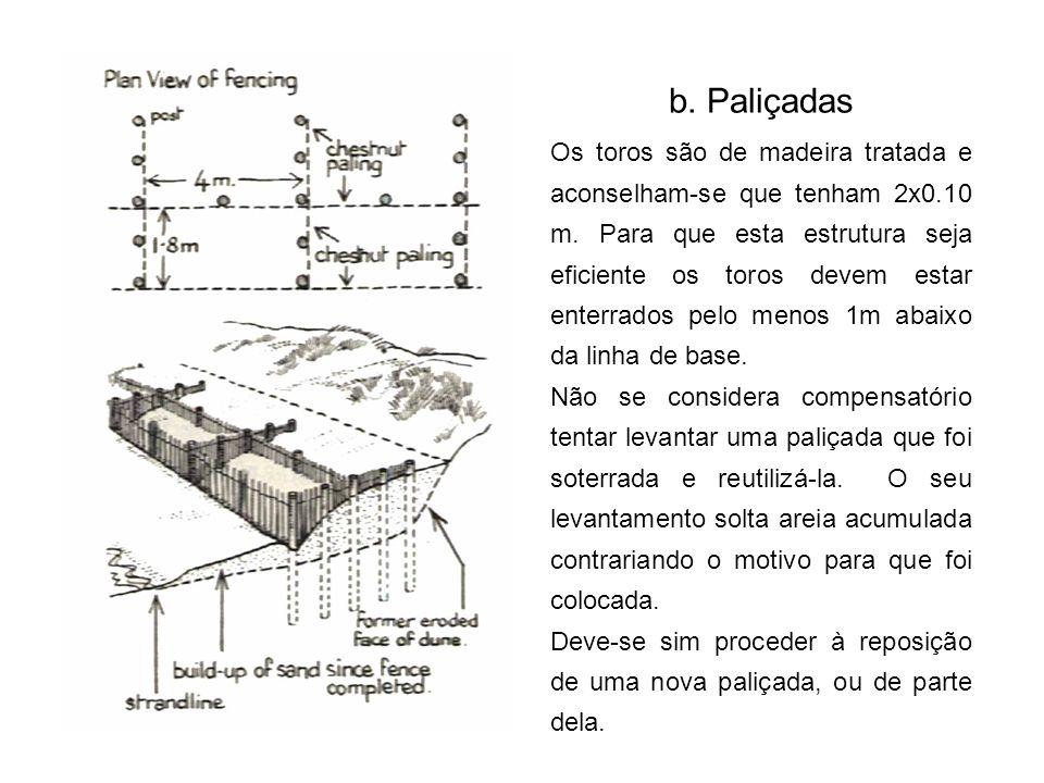 b. Paliçadas
