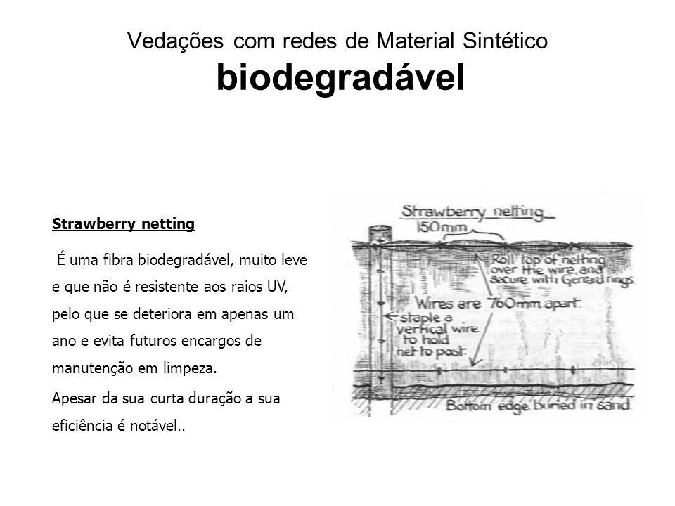 Vedações com redes de Material Sintético biodegradável