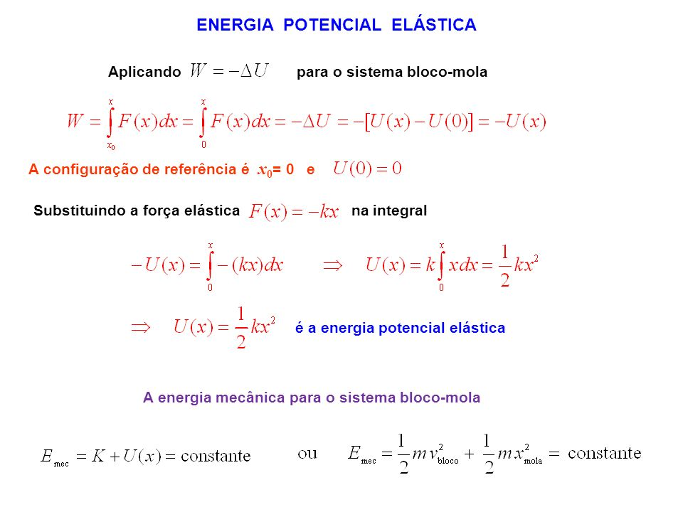 ENERGIA POTENCIAL ELÁSTICA