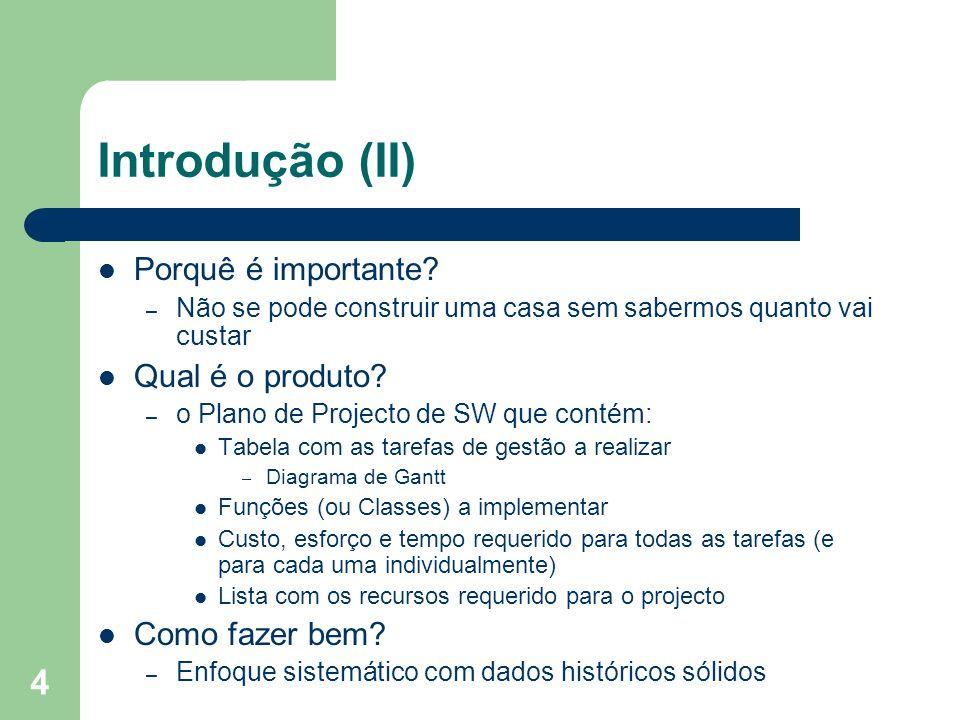 Introdução (II) Porquê é importante Qual é o produto Como fazer bem