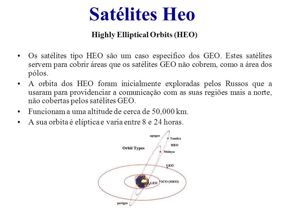 Highly Elliptical Orbits (HEO)