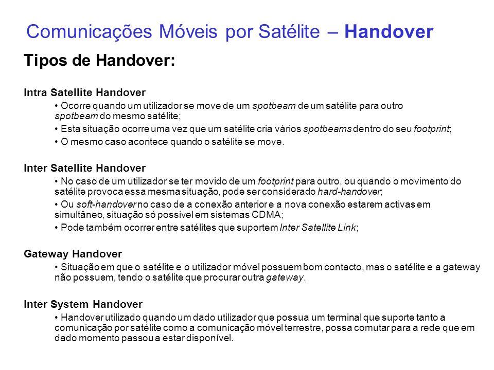 Comunicações Móveis por Satélite – Handover