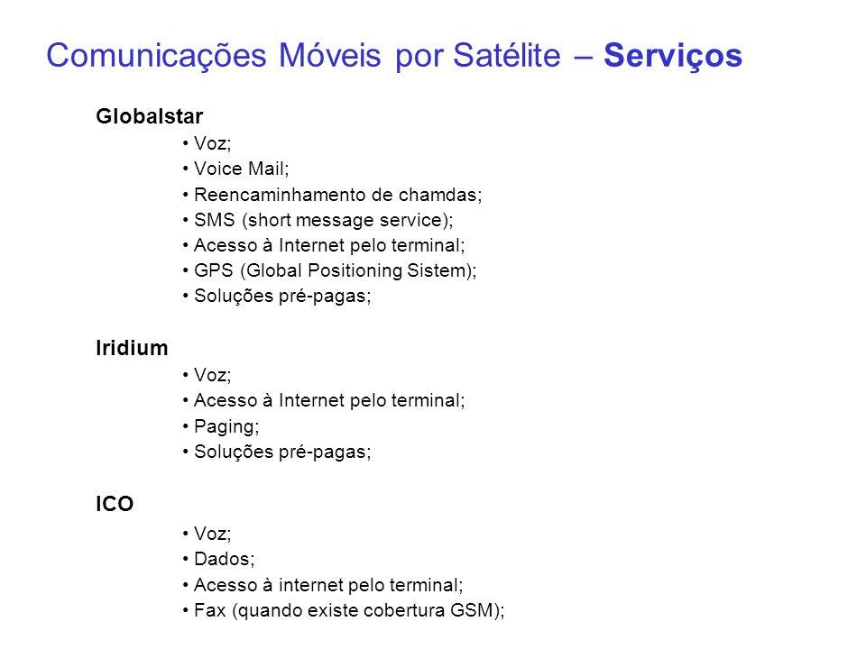 Comunicações Móveis por Satélite – Serviços