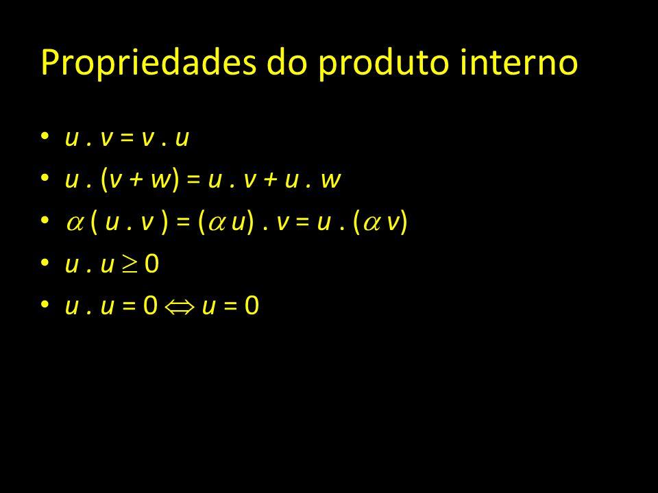 Propriedades do produto interno