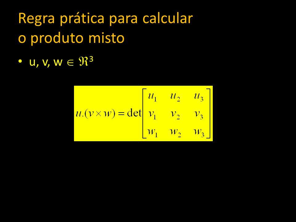 Regra prática para calcular o produto misto