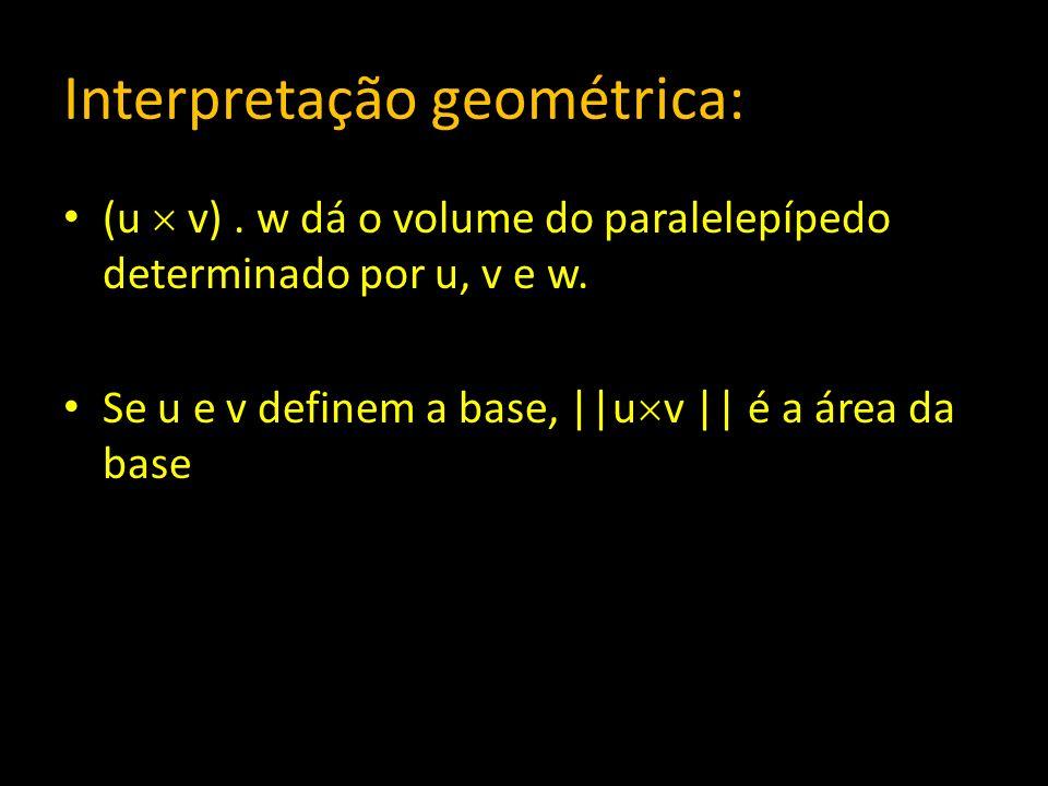 Interpretação geométrica: