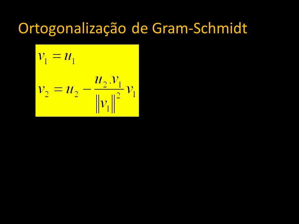 Ortogonalização de Gram-Schmidt