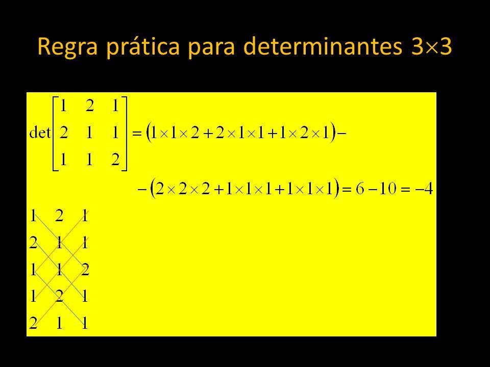 Regra prática para determinantes 33