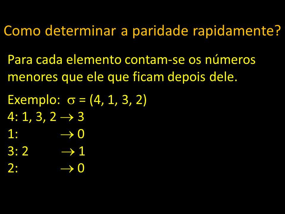 Como determinar a paridade rapidamente