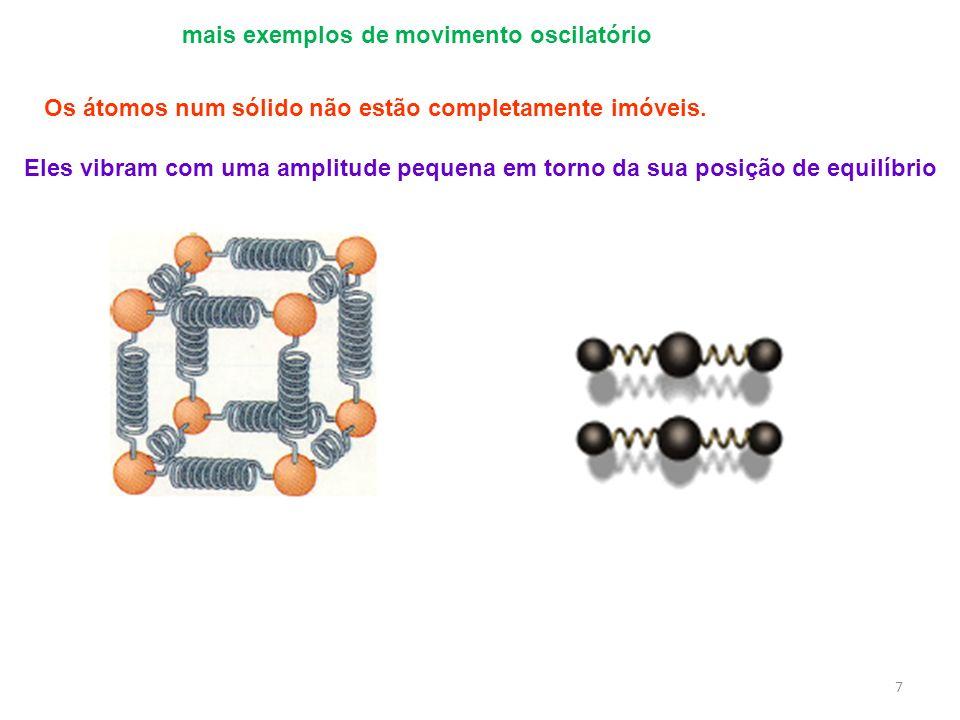 mais exemplos de movimento oscilatório